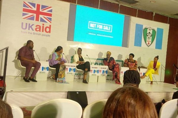 "Chairperson Of ETAHT At The Launch Of The ""NOT FOR SALE"" Project organised by UKaid"