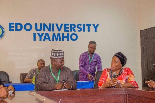 Courtesy Visit to Edo University, Iyamho